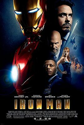 Iron Man (2008) Original Movie Poster  -  Rolled  -  Double-Sided