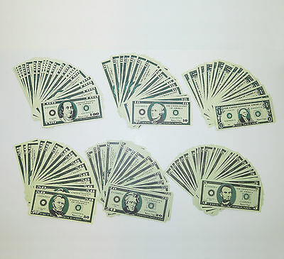 $9,300 in Play Money Fake Novelty Bills 300 Count (50 each $100/50/20/10/5/1)