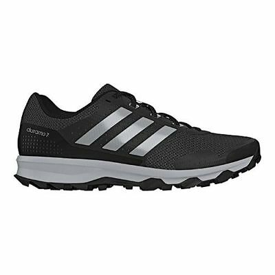 adidas Men's   Duramo 7 Trail Running Shoe Black/Silver Metallic/Clear Onix Size