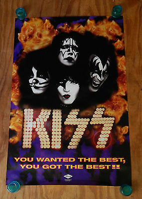 Kiss - You Wanted The Best, You Got The Best - Original Rock Promo Poster (1996)