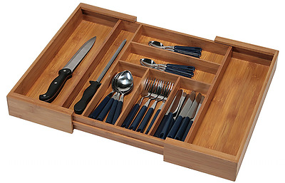 Kesper 17085 Cutlery Tray Expandable from 35 - 58 cm Bamboo