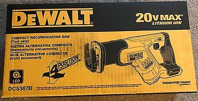 NEW!!! DeWALT DCS387B 20V COMPACT RECIPROCATING SAW!! TOOL ONLY!!