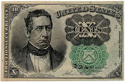 10 Cents 1874 Series Fractional Currency UNCIRCULATED Green Seal Fr 1264 - #005