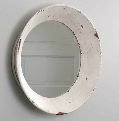 Large Industrial Primitive Farmhouse  16 inch Round Dutch Wall Mirror  SALE!