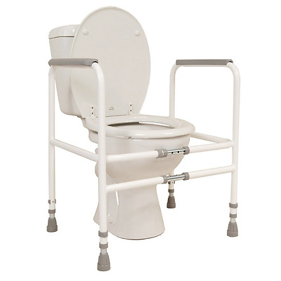 NRS Healthcare M00870 Free Standing Toilet Frame - Width & Height Adjustable (El