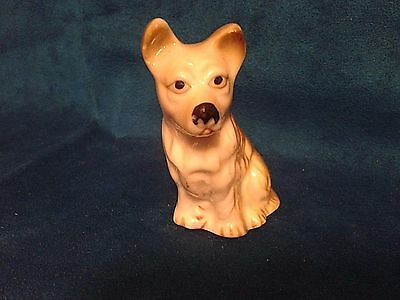 Miniature Bone China Schnauzer/Small Dog Figurine Made In Taiwan