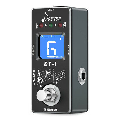 Chromatic LCD Screen DT-1 Chromatic Guitar Pedal Tuner Bypass Auto Tuning