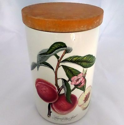 Pomona Portmeirion Canister With Lid Grimwoods Royal George Peach England 1982