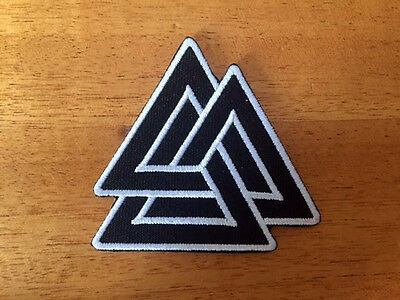 Valknut Trigon Norse VIKING Odin Pagan SEW IRON ON PATCHES patch bag clothing