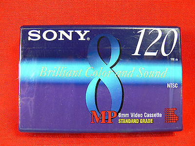 Sony 8MM MP120 Blank Video 8 Camcorder Video Cassette Tape - P6-120MPC - NEW
