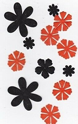 Black/orange Sheer Flower Blossoms Assortment
