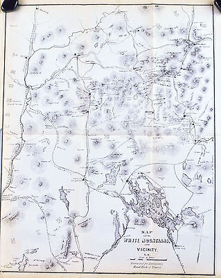 White Mountains New Hampshire Antique Map 1867