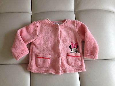 Disney Baby Girl Cardigan Sweater Minnie Mouse Size 6-9 Months Soft CUTE!