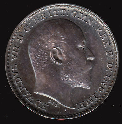 UK Britain 1905 One 1 Penny Silver Maundy KM 795 Prooflike UNC Iridescent Pence
