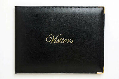 Cumberlands Visitors Book Polyurethane With Gold Corners - Black