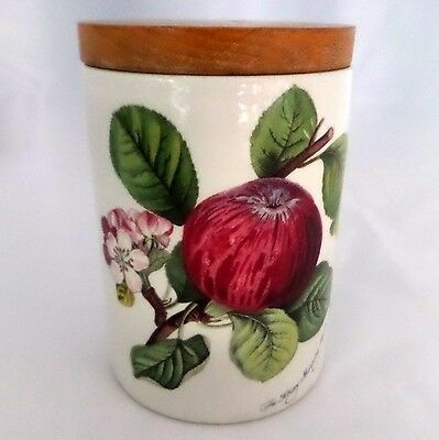 Pomona Portmeirion Canister With Lid Hoary Morning Apple England 1982 Vintage
