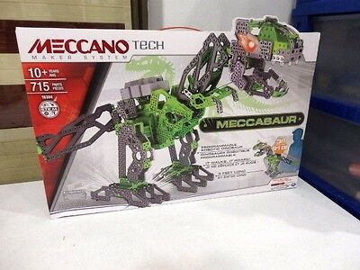 NEW MECCANO TECH MAKER SYSTEM - Programmable Robotic Dinosaur - MECCASAUR -16304