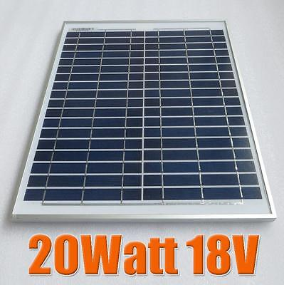 20W 10W 5W 18V Solar Panel Module Charger for 12V Battery DIY Motorhome Car Camp