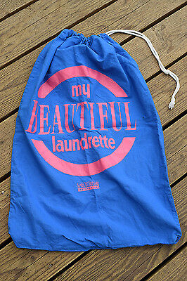 Karl-Lorimar My Beautiful Laundrette Blue and Pink Drawstring Laundry Bag Sack