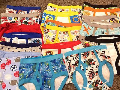 Boys Brief Underwear Size 2T-3T Lot Of 18 Assorted Pairs