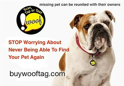 WoofTag the 21st Century Dog Tag - Track your pet with its built in GPS
