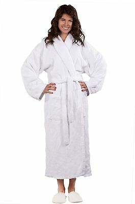 100% Turkish Cotton Terry Kimono Robe Adult Women Men - White One Size