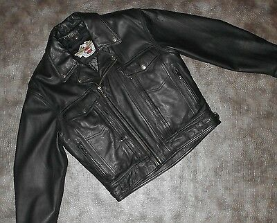 Men's Harley-Davidson NEVADA Midweight Leather Jacket (98122-98VM) size M