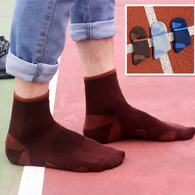 3 Pairs Men's Thickened Climbing In Tube Socks Soft Cotton Camping Multi-Type