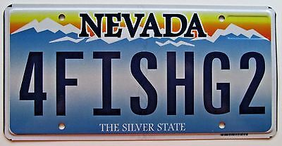 Nevada 2011 vanity license plate i am bad cad for Fishing license nevada