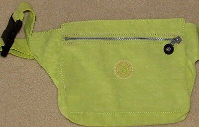 Neon Yellow KIPLING Hipster Fanny Adjustable Waist Pack BAG Travel Purse
