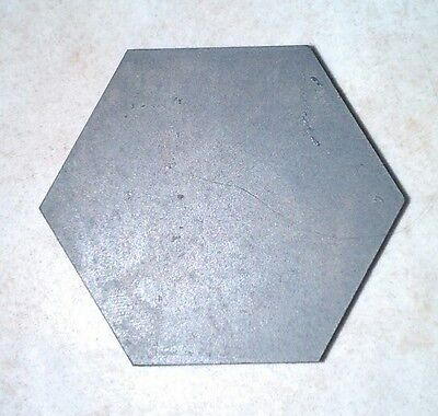 "Silicon Carbide (SiC-Sintered) Armor Grade Tile, 2.15"" Hex, 0.575"" thickness"