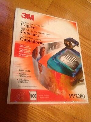 BRAND NEW 3M Transparency Film for Copiers:  PP2200 100 Total Sheets