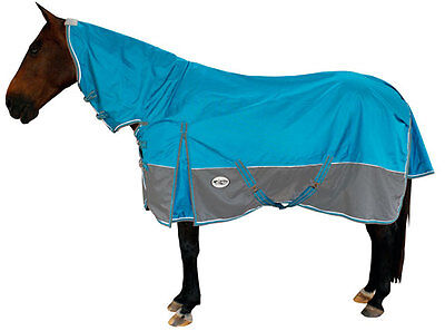 CARIBU 1680 Denier Winter Turnout Horse Rug with 300gr Polyfill Lining, AQUA