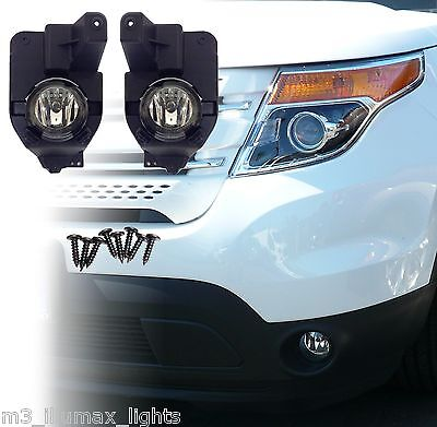Replacement Fog Light Kit For 2011-2015 Ford Explorer: Lamps, Bulbs, Brackets