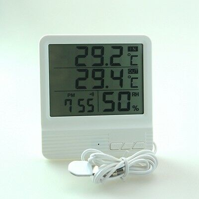 Digital LCD Indoor Outdoor Temperature Humidity Meter Thermometer Hygrometer