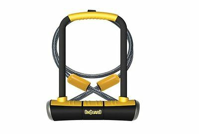 On-Guard Pitbull Keyed Shackle Lock, Black/Yellow, Bike Bicycle Scooter Security
