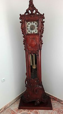 Clock Baroque Style  Hand - Carved Grandfather Clock 2