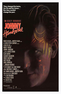 Johnny Handsome (1989) Original Movie Poster  -  Rolled