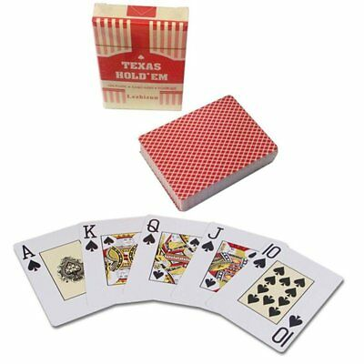 Red Poker Baccarat Texas Playing Cards Frosting Poker Card Board Game