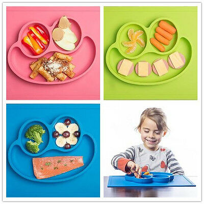 Silicone Fun Placemat & Plate/Tray Kids Chird Self Suction Baby Placemat Plate