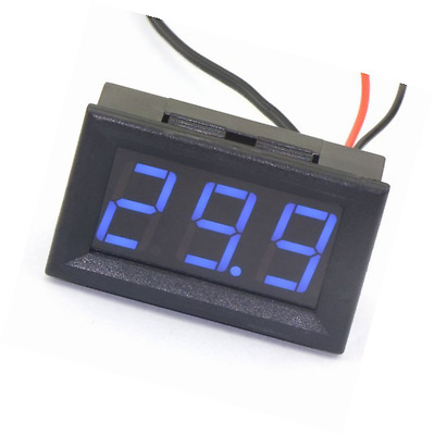 DROK DC 12V Digital Thermometer Temperature Gauge -50~110cEmbedded Temp Detector