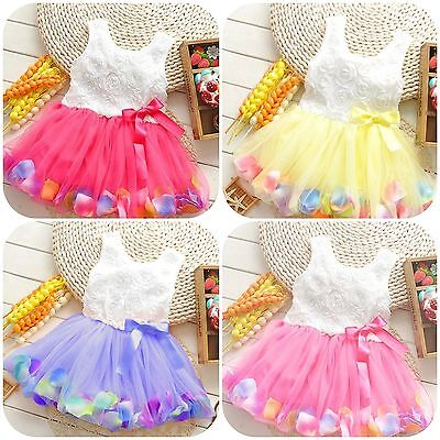 PRINCESS SUMMER FLOWER TUTU, Baby Girl's Petal Dresses