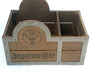 JAGERMEISTER Napkin Staw Holder Wood Bar Caddy Jager LIMITED EDITI