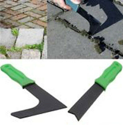 2 Pc Weed Remover Set Garden Patio Slab Groove Weeder Moss Paving Tool Weeding