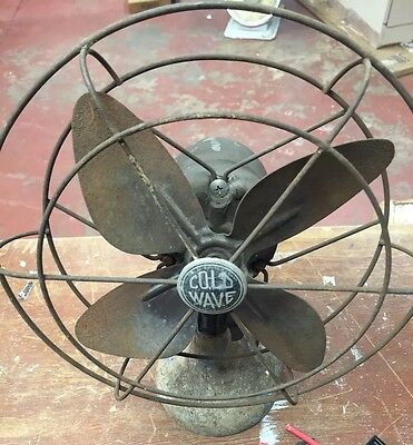 Vintage  Sears Roebuck & Co. Cold Wave Oscillating Desk Fan