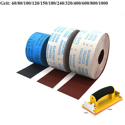4'' Wide Emery Cloth Roll Aluminium Oxide Sanding Sandpaper 100mm 60 - 1000 Grit