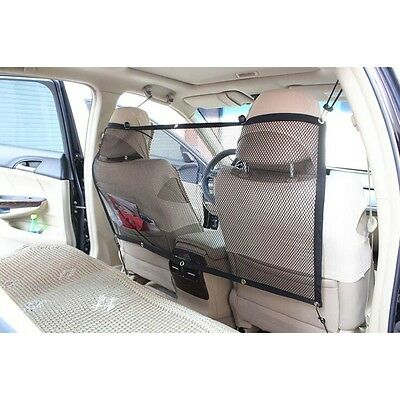 "Car Back Seat Mesh 45""x24"" Pet Safety Travel Isolation Net Dog Barrier"