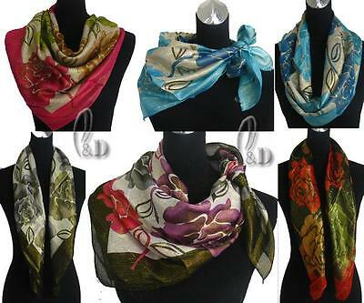 WHOLESALE BULK LOT OF 20 MIXED STYLE Shiny Square Head Neck Wrap SCARF sc045