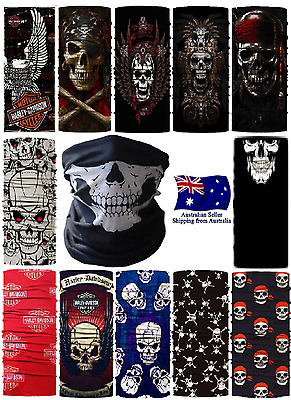 Harley Davidson Skull Bandana Face Mask Shield Fishing Biker Neck Tube Scarf