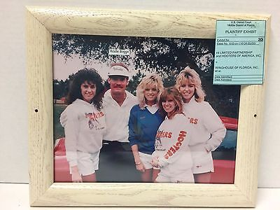 Vintage Hooters Photo Of Wade Boggs From District Court Case-Rare Find!!!